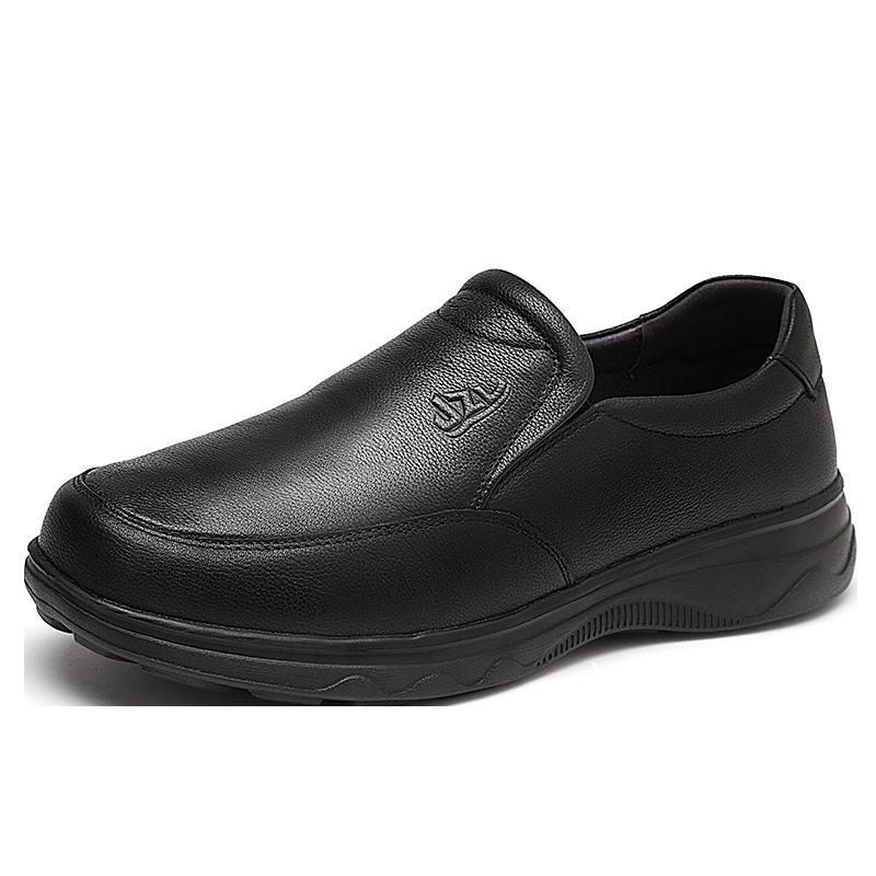 健足乐老人鞋 男鞋舒适软底中老年人鞋爸爸皮鞋休闲商务 J832512080