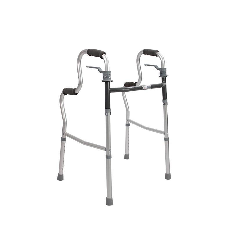 AUFU老人框式梯形助行器FS9632L可折叠铝合金助行架