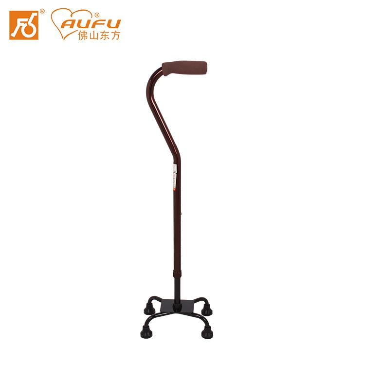 AUFU拐杖FS947老人助行器高度可调铝合金手杖四脚拐