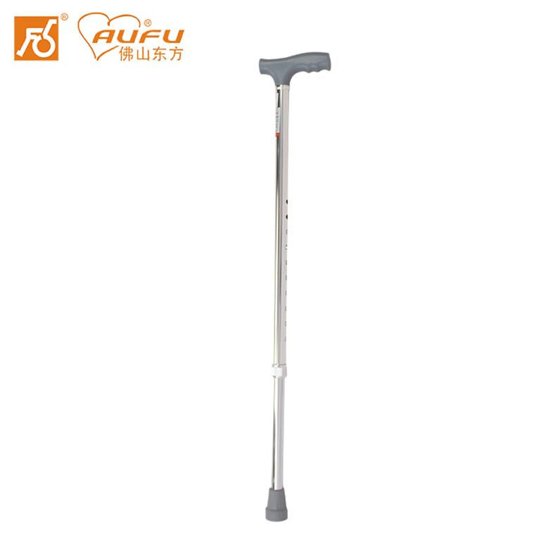AUFU拐杖FS920L老人助行器可调节高度铝合金手杖单拐