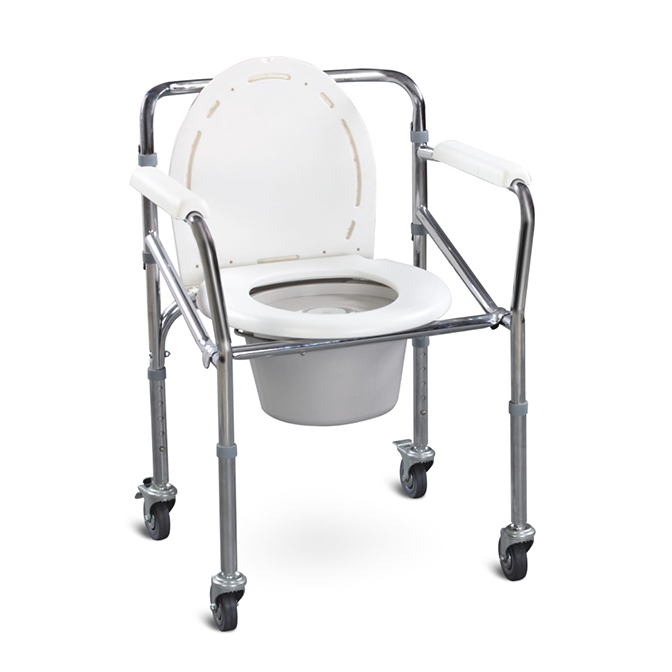 FS696坐便椅-淋浴椅  带轮子 老人洗澡神器