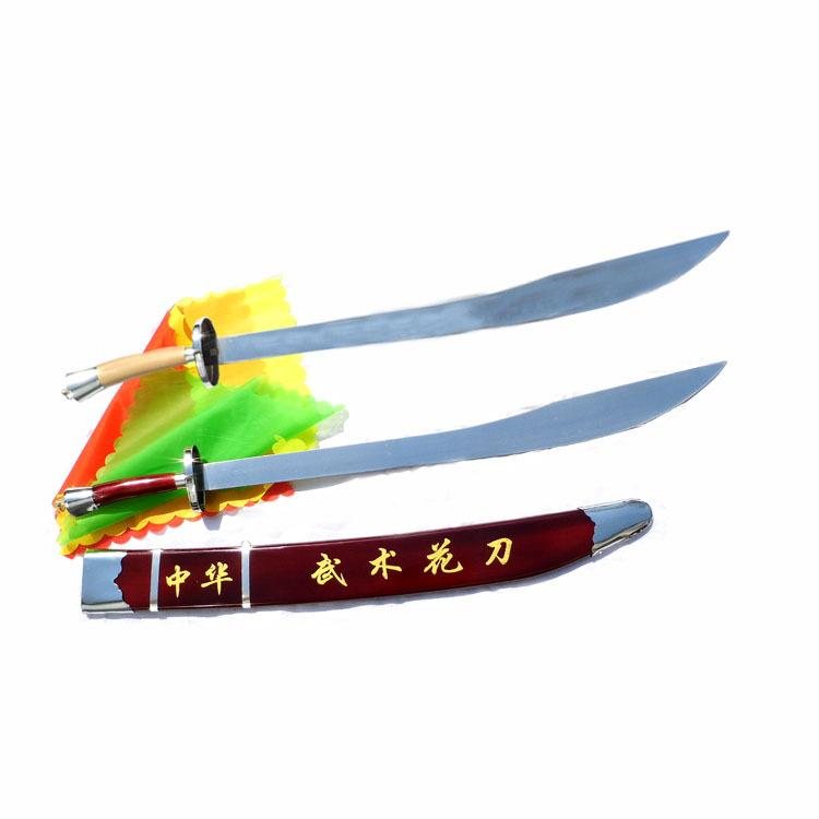武术表演太极刀 晨练健身木兰器械 通用未开刃碳钢软刀