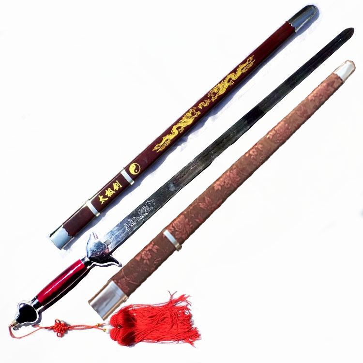 太极表演半硬剑舞台表演软剑训练锻炼舞台道具演出剑