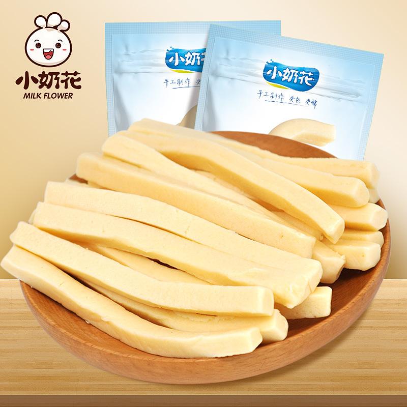 小奶花 内蒙古特产 黄油乳酪条 黄油奶干