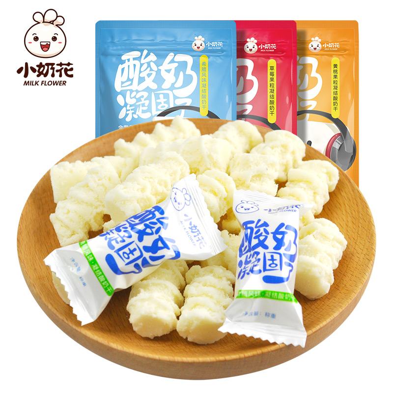 小奶花 奶酪酸奶凝固 酸奶疙瘩 儿童奶酪条奶片  400g两袋装