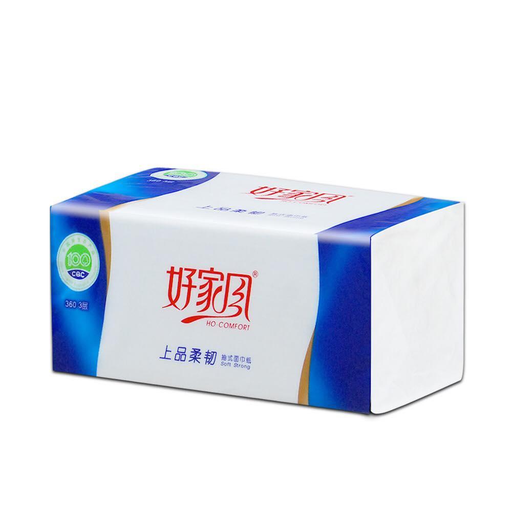 好家风 - 紫荆花抽式面巾纸360张20包   包邮价