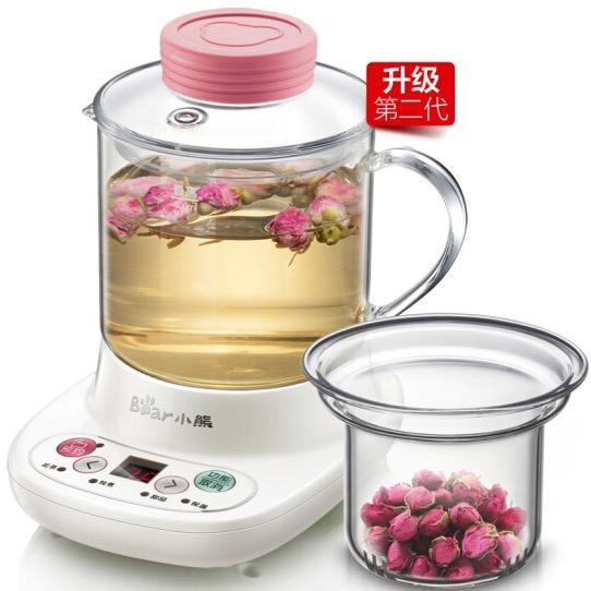 小熊0.4L迷你养生壶加厚玻璃自动电热煮茶壶  花茶壶YSH-A03C5