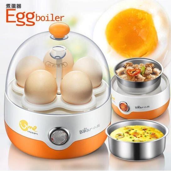 小熊(Bear)煮蛋器 单层家用自动断电蒸蛋器  蒸蛋器早餐机  防干烧 5个蛋 ZDQ-2201