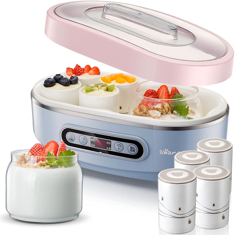 小熊(Bear)纳豆酸奶机 家用泡菜米酒机 玻璃双内胆陶瓷8分杯 SNJ-A15K1