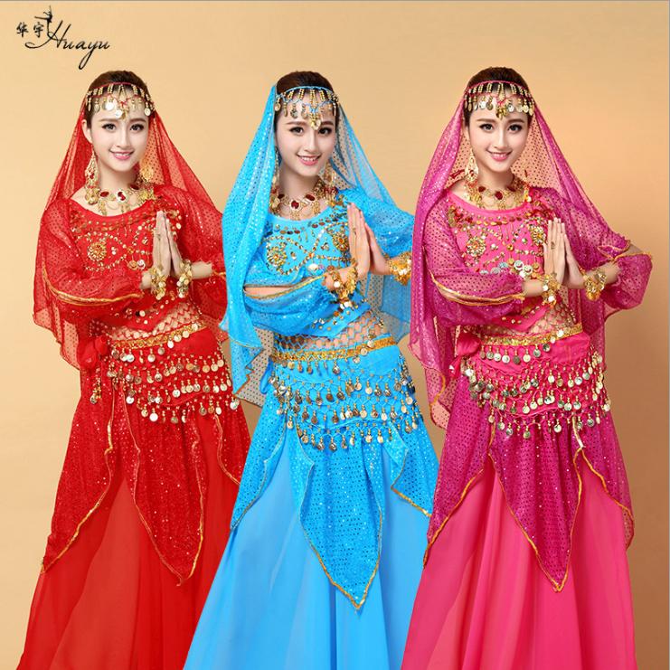 2018新款肚皮舞舞蹈服装 印度舞蹈表演套装HY0045