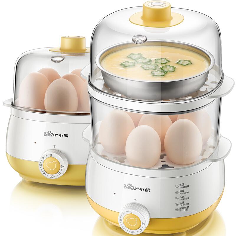 小熊(Bear) 煮蛋器 双层家用蒸蛋器 定时早餐机 14个蛋 ZDQ-A14R1