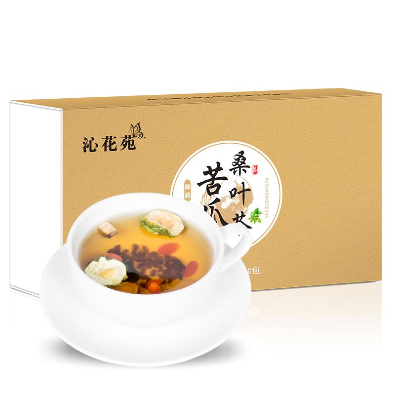 沁花苑 - 苦瓜桑叶茶   三高不在高轻松每一天