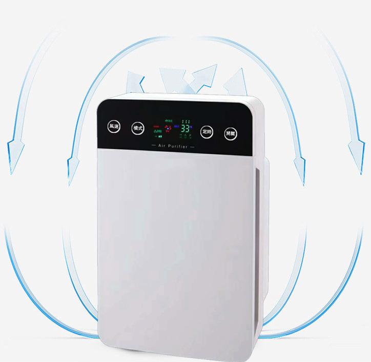 智能空气净化器 - 3D循环净化除甲醛、苯酚、烟味、霉菌  B6款(液晶显示)