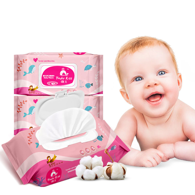 吻儿 - 婴儿手口柔湿巾   恪守7种不添加   弱酸性保护   成就高品质