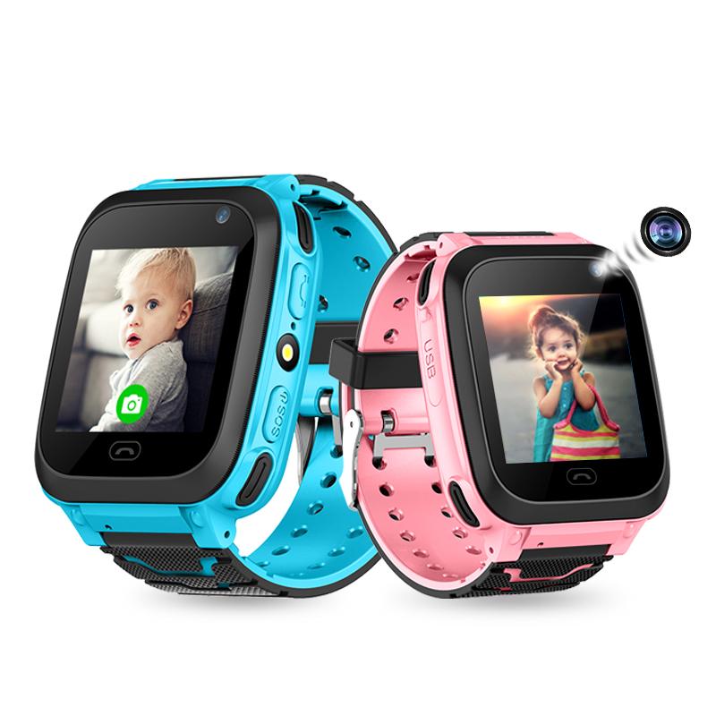 艾蔻(ICOU) 儿童电话手表H3 360度防水男女学生定位手表 触屏手电筒智能手表 公主粉