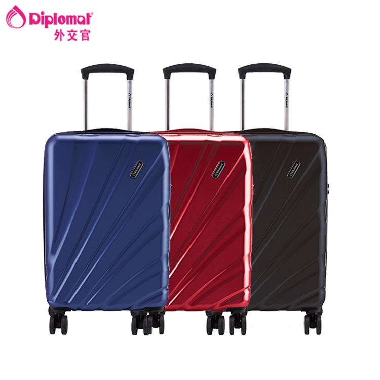 外交官Diplomat 时尚商务 休闲拉杆箱QDD-1226 红色 20英寸