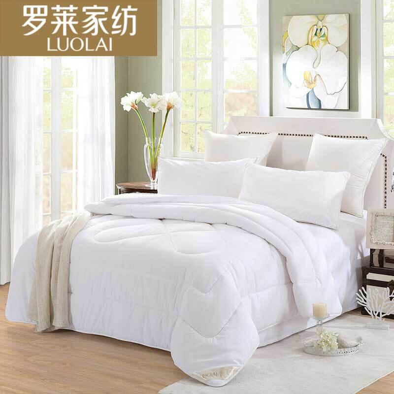 罗莱 雅致柔纤七孔被保暖四季被 白色 200*230cm